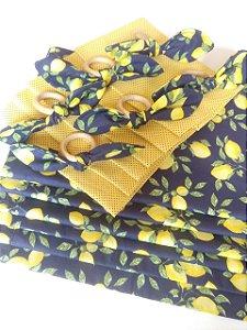 Kit Lugar Americano Limão Siciliano Dupla Face - 18 peças