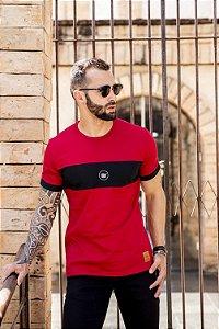 camiseta recorte vermelho
