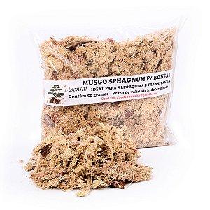 Musgo Sphagnum para Alporquias e Cobertura do Substrato do Bonsai 50 gramas