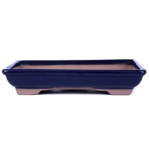 Vaso para Bonsai Petrópolis Retangular Esmaltado 21 X 15 X 4 cm