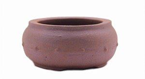 Vaso Redondo Para Bonsai Mame Terracota Jorge Ribas 9,5 X 4 cm