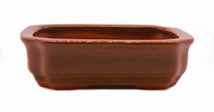 Vaso Retangular Esmaltado Literato 15 X 11 X 4,5 cm