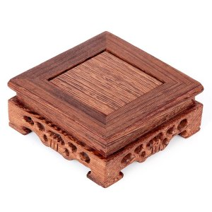Mesa Para Exposição De Bonsai Quadrada Importada com Fino Acabamento