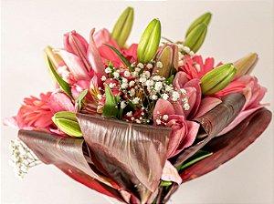 Bouquet Flores cor de Rosa