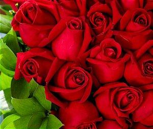 Bouquet com 100 Rosas Vermelhas