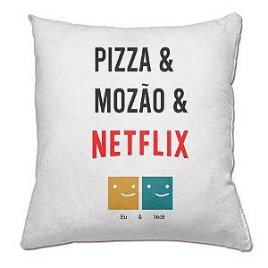 Almofada Pizza Mozão e Netflix