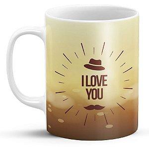 Caneca Personalizada Dia dos Pais - Feliz Dia Dos Pais I Love You