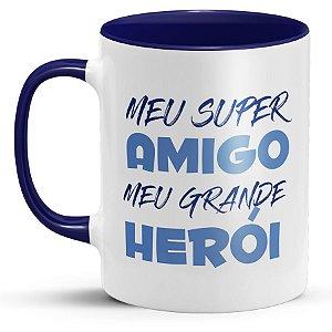 Caneca Personalizada com Foto para Dia Dos Pais - Meu Super Amigo Meu Grande Herói