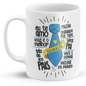 Caneca de Porcelana Dia Dos Pais - Frases
