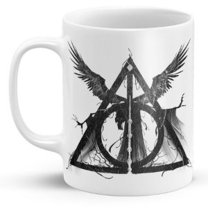 Caneca de Porcelana Harry Potter Relíquias da Morte