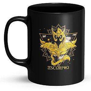 Caneca de Porcelana Cavaleiros do Zodíaco Escorpião