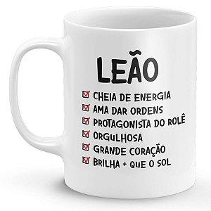 Caneca Personalizada Signo Leão