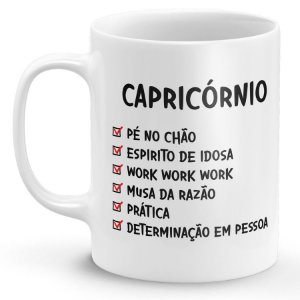 Caneca Personalizada Signo Capricórnio