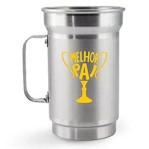 Caneca de Chopp de Alumínio 750 ml Dia dos Pais - Melhor Pai
