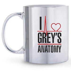 Caneca Espelhada Personalizada Eu Amo Grey`s Anatomy