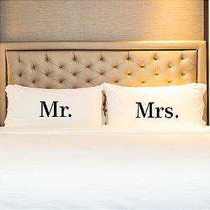 Kit Fronha Personalizada Mr. e Mrs.