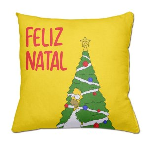 Almofada Feliz Natal Simpsons