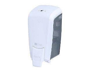 Dispenser, Saboneteira (Suporte) para Sabonete Líquido Cremoso Refil de 800ml Branco e Fumê Linha Elisa