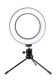 Lampada Ring Light Led 6pol C/usb 3funcao+3tons Fnb