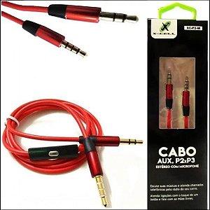 Cabo Audio 1p2st 4c+p2st+mic C/atend 1,5mt Pt