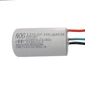Capacitor Partida 1,7mf+1,3mfx 250v 3fios