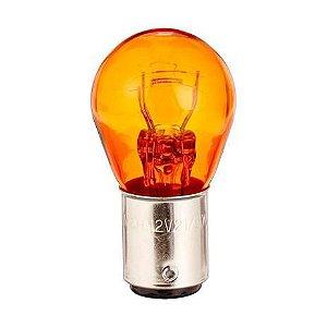 Lampada 12v 5w Ba15 2polo Laranja Multilaser