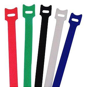 Abracadeira Velcro 200x12mm Color Kit5pc