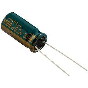 CAPACITOR ELETROL 3300MFX6,3V 105G 10X20