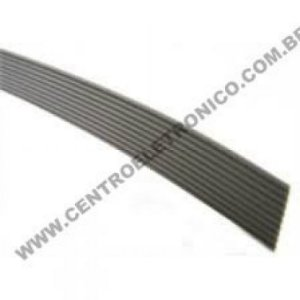 CABO(G)PLANO 10X28AWG CINZA 1,27MM PASSO