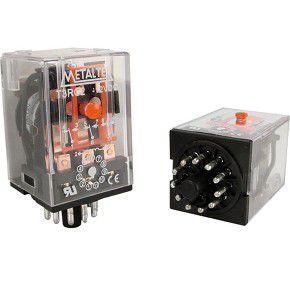 RELE 220VAC 10A 3CT REV CILINDRICO MTX