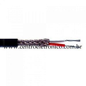 CABO AFT 2X18AWGBT PRETO PVC TRANCA