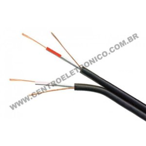 Cabo Philips 2x0,20mm Embor Pt(2x24awg)fmx+
