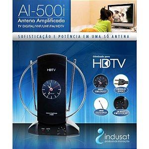 ANTENA TV INTERNA HDTV 15DBI AMPLIFICADA INDUSAT AI500