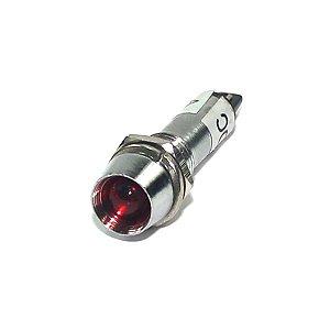 LAMPADA 220V LED VERMEL CROM+PORCA F-7MM