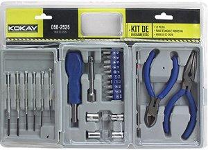 Ferram Kit 25pcs 2alicates+chaves Precisao