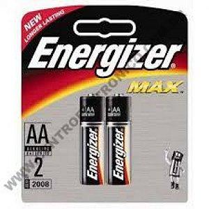 PILHA 1,5V AAX2 ALKALINA ENERGIZER 2PCS