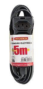 Extensao 5mt 3tom 3p Mega 10a 0,75mm Pt