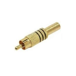 PLUGUE RCA OURO C/MOLA P/CABO 4MM PT(100
