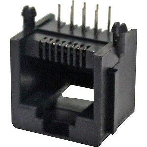 JACK RJ12 6P4 PCI 90GR CINZA