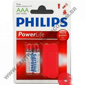 PILHA 1,5V AAAX2 ALKALINA PHILIPS 2PC(P)