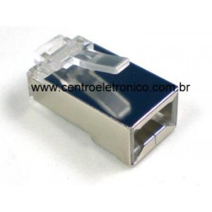 CONECTOR RJ45 CAT5 BLINDADO CAT5 F1650+B