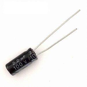 CAPACITOR ELETROLITICO 2,2MFX100V 5X11MM 105G