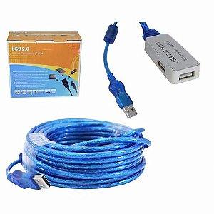 CABO USB A-M + A-F 10MT C/CHIP EXTENSOR