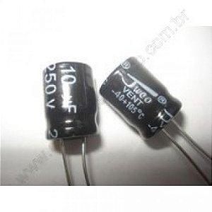 CAPACITOR ELETROL 10MFX25V RD 6X11 105G