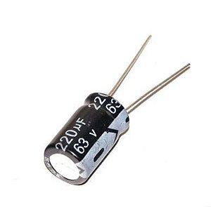 CAPACITOR ELETROL 220MFX63V 10X20MM EPC