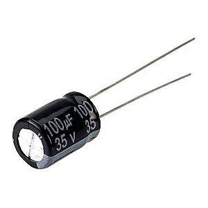 CAPACITOR ELETROLITICO 100MFX35V 8X12MM 105G