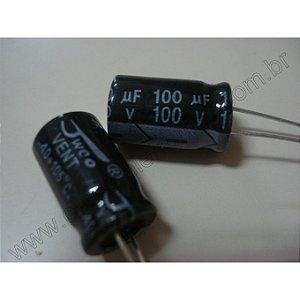 CAPACITOR ELETROL 100MFX100V 10X20M/105G