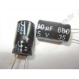 CAPACITOR ELETROLITICO 680MFX35V 105G 10X20MM