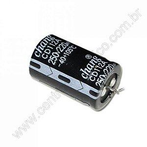 CAPACITOR ELETROL 220MFX250V 105G 40X20M