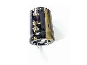 CAPACITOR ELETROLITICO 390MFX200V 105G 25X30M